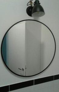 Steklarstvo Kresal Ogledalo v črnem okvirju 1